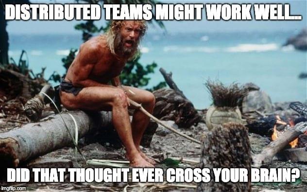 coworking castaway meme